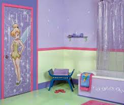 Purple Themed Bathroom Blue And White Themed Kids Bathroom Designs With White Floor Tiles