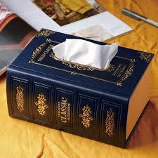 european style retro tissue box creative car leather box old book storage box paper crafts art wet wipes box in tissue bo from home garden on