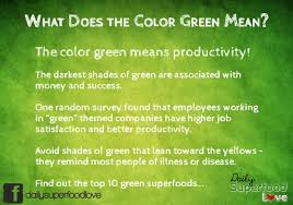 Meaning of the Color Green