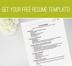 Free Rush Resume Template