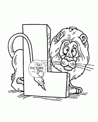 Letter L Alphabet Coloring Pages For Kids Abc Printables Free