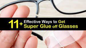 get super glue off gles