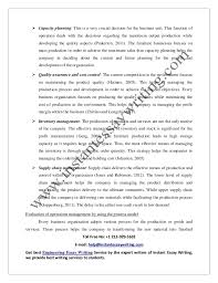sample on operation management in business by instant essay writing sample report on operation management in business for complete essay writing kindly mail us at help instantessaywriting com 6