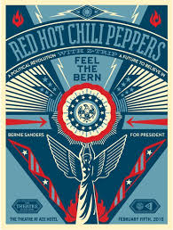 bernie sanders for president vector. red hot chili peppers feel the bern concert poster - bernie sanders for president 2016 fundraiser vector