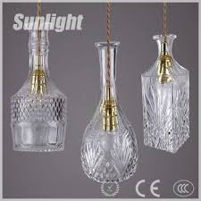 hanging pendant lighting. Retro Industrial Indoor Vodka Wine Bottle Hanging Lamp Led Decorative Glass Pendant For Bar Lighting H