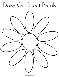 Small Picture Daisy Girl Scout Petals Coloring Page Twisty Noodle