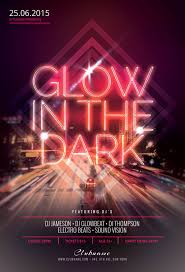 glow flyer glow in the dark flyer template on behance