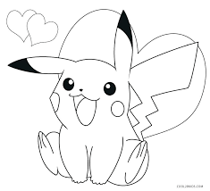 pikachu coloring pages color sheet printable coloring pages for kids cartoon pokemon pikachu ex coloring pages