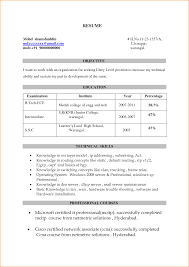 What To Write In Resume Headline For Freshers A Good Resume Example
