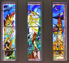 photo of finished religious church window