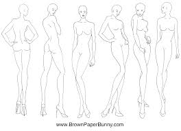 Fashion Illustration Croquis Brown Paper Bunny Studio