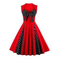 <b>S</b>-<b>5XL</b> Women <b>Robe</b> Pin Up <b>Dress</b> Retro Vintage 50s Rockabilly Dot ...