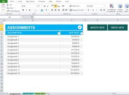 Excel Assignments Assignment Planner Excel Template Excel Tmp