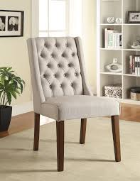 coaster 902502 accent side chair tufted back beige fabric set of two main image