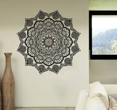 mandala wall decals stickers namaste vinyl bedroom decor bohemian boho yoga sm6