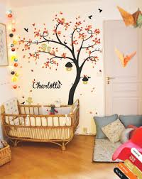 tree wall decal huge tree wall decals nursery wall decor wall mural stickers tree with birds