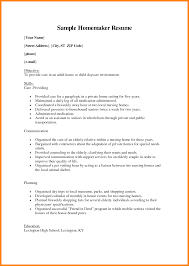 Homemaker Resume Example homemaker resumes Tiredriveeasyco 3