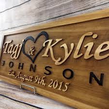 wedding gift wedding sign anniversary gift family name sign elished sign personalized last name by dakota
