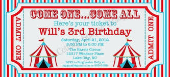 Carnival Ticket Template Circus Ticket Invitation Template Awesome