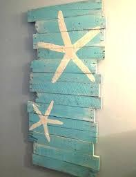 wooden beach themed wall art