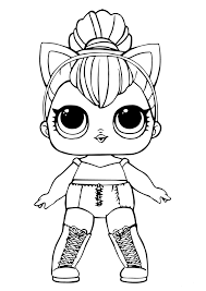 Free Lol Doll Coloring Sheets Kitty Queen For The Girls Lol