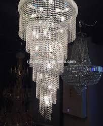 Moderne Silber Lange Treppenhaus Hängen Spirale Treppen Fall Cristal Perlen Anhänger Lampe Kristall Spirale Kronleuchter Für Hochzeit Buy Kristall