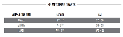 Bauer Helmet Size Chart Hockey Helmet Sizing Chart Bike City Warehouse