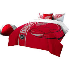 detroit red wings full embroidered comforter 2 sham set official