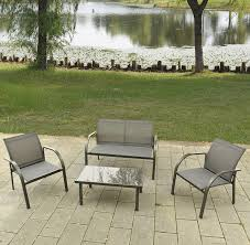 garden coffee table set patio furniture outdoor sofa chairs modern steel frame