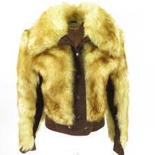 fox fur jacket womens 8 80s h50v 1