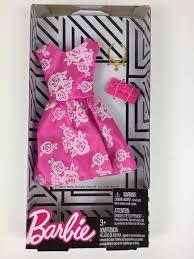 <b>2018 New</b> Barbie Fashionistas Pink Floral Party Dress <b>Fashion</b> Pack ...