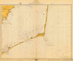 Historical Nautical Chart 1232 04 1916 Cape Hatteras Wimble Shoals To Ocracoke Inlet