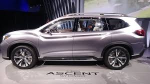 2018 subaru ascent. perfect 2018 2018 subaru ascent suv concept  exterior interior walkaround world debut  ny auto show 2017 on subaru ascent e