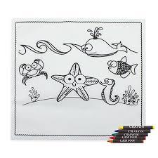 Tovaglietta In Tnt Con Disegno Per Bambini Da Colorare E Pastelli