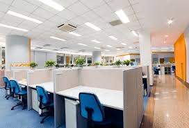 corporate office interior. office interior design highlighted using orange colour corporate t