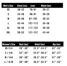 Sizing Charts Hyperfly Gi Compression Gear No Gi