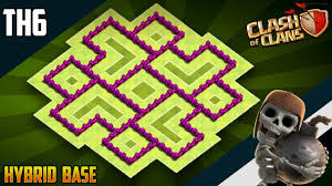 Clash Of Clans Th6 Base Design New Best Th6 Hybrid Trophy Base 2019 Coc Town Hall 6 Th6 Hybrid Base Design Clash Of Clans