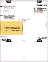 11x17 Trifold Template Find A Printing Template Printpapa Com