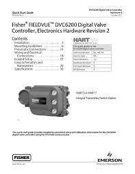 dvc6200 quick start guide elctrncs hrdwre rev 2 oct 2011 by rmc dvc6200 quick start guide elctrncs hrdwre rev 2 oct 2011 by rmc process controls filtration inc issuu
