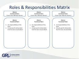 Organization Chart Project Responsibilities