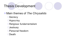 writing thesis based essays today s checklist take up the  10 thesis development main themes of the chrysalids  secrecy  hypocrisy  religious fundamentalism  jealousy  personal dom  death