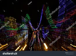 Trippy Outdoor Lights Trippy Looking Christmas Lights Local Park Stock Photo Edit