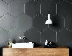 hexagonal bathroom tile bathroom tile ideas grey hexagon tiles large hexagonal charcoal tiles on the walls