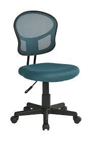 com office star mesh back armless task chair with padded fabric seat black kitchen dining