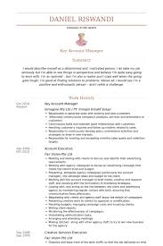 Key Account Manager Resume samples