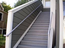 decorate outdoor stair railing ideas aluminum handrail for stairs