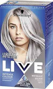 Schwarzkopf Urban Metallics Live Hair Colour U71 Metallic Silver Pack Of 3