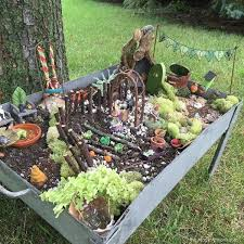 side view of fairy garden garden