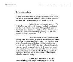 ask the experts a view from the bridge essay help view from the bridge essay help scripts mit edu