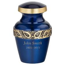 Decorative Urns For Ashes Sapphire Blue Keepsake Urn For Ashes 100